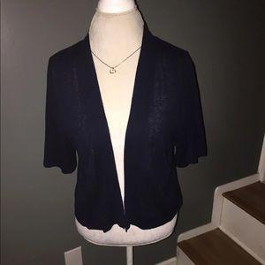 Lane Bryant Navy Blue open front cardigan 14/16